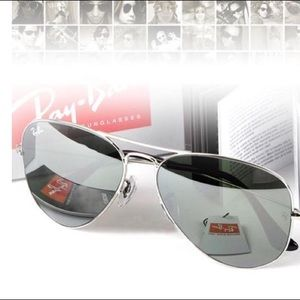 Ray bans mirror silver rb3026